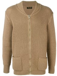 Pierre Cardin Vintage 1970'S Chunky Knit Cardigan Brown
