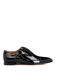 Christian Louboutin Greggo Patent Leather Lace Up Shoes