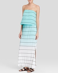 Red Haute Strapless Ombre Stripe Maxi Dress Mint