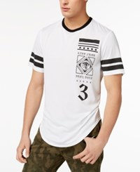 Inc International Concepts Men's Mesh Graphic Print Jersey T Shirt Created For Macy's White Pure