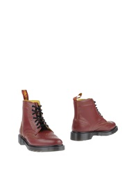 Dr. Martens Ankle Boots Red