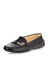 Tod's Winter Gommini Driving Moccasin Black