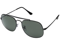 Ray Ban 0Rb3561 The General 57Mm Shiny Black Frame Polarized Green Lens Fashion Sunglasses