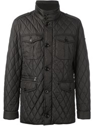 Hackett Quilted Jacket Brown
