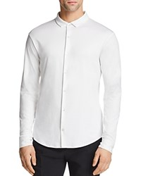 Emporio Armani Jersey Classic Fit Dress Shirt 100 Exclusive White