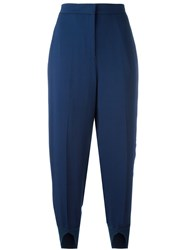 Twin Set Split Cuff Cropped Trousers Blue