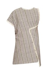 Acne Studios Grix Asymmetric Top Grey Stripe