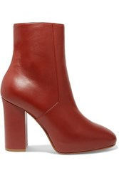 Dries Van Noten Leather Ankle Boots Brick