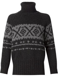 E. Tautz Roll Neck Sweater Grey
