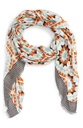 Women's Sole Society 'Mixed Tile' Geo Print Scarf