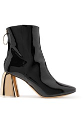 Ellery Patent Leather Ankle Boots Black
