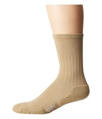 Thorlos Experia Dress Crew Single Pair Khaki Men's Crew Cut Socks Shoes