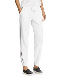Ralph Lauren Piped Jogger Pants White