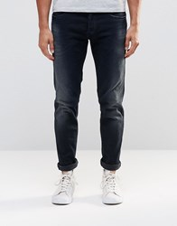 Replay Thyber Slim Jeans Power Stretch Dark Distressed Wash Dark Wash Blue
