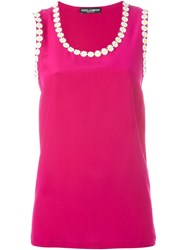 Dolce And Gabbana Daisy Tank Top Pink And Purple