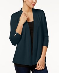 Charter Club Petite Open Front Cardigan Only At Macy's Intrepid Blue
