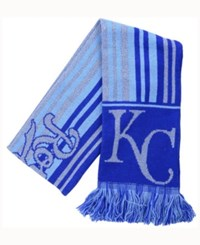 Forever Collectibles Kansas City Royals Glitter Stripe Scarf Royalblue
