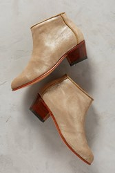 Anthropologie Bt Gold Ankle Boot Zip