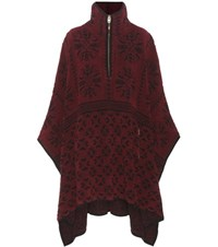 Chloe Knitted Wool And Cashmere Poncho Purple