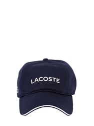 Lacoste Logo Printed Ultra Dry Pique Hat Navy