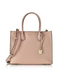 Michael Kors Mercer Large Fawn Pebble Leather Convertible Tote Bag Pink