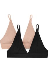 Baserange Set Of Two Stretch Bamboo Triangle Bras Neutral