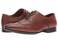 Kenneth Cole Mix Oxford B Cognac Men's Lace Up Wing Tip Shoes Tan