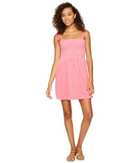 Juicy Couture Venice Beach Microterry Rouched Ties Dress Precocious Pink Women's Dress