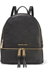 Michael Michael Kors Rhea Textured Leather Backpack Black
