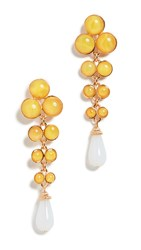 Ben Amun Long Drop Earrings Yellow