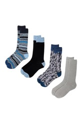 Lucky Brand Assorted Crew Cut Socks Pack Of 4 Black