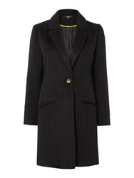 Therapy Thalia Textured Boyfriend Coat Black