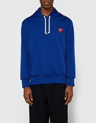 Comme Des Garcons Play Hooded Sweatshirt Navy