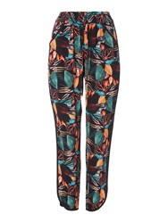 Biba Printed Slouch Trousers Multi Coloured Multi Coloured