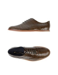 Opening Ceremony Lace Up Shoes Military Green