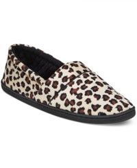 Charter Club Microvelour Memory Foam Slippers Only At Macy's Leopard