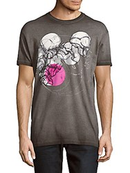 Dsquared Cotton Short Sleeve Graphic Tee Grey