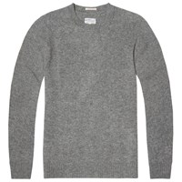 Gant Rugger Lambswool Crew Knit Light Grey