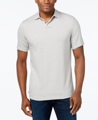 Tasso Elba Signature Textured Polo City Taupe Combo