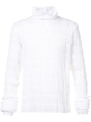 Y Project Ruffle Roll Neck Top White