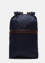 Marni Seatbelt Buckled Backpack Navy