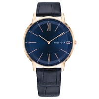Tommy Hilfiger 1791515 'S Cooper Leather Strap Watch Navy