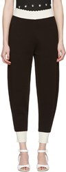 Mcq By Alexander Mcqueen Black Scalloped Lounge Pants
