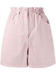 Nude High Rise Fitted Shorts Pink