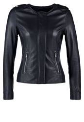 Be Edgy Apollo Leather Jacket Navy Dark Blue