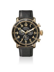 Shinola The Runwell Sport Chronograph Leather Strap Watch No Color