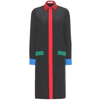 Givenchy Silk Shirt Dress Multicolored