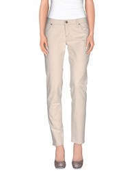 Heavy Project Denim Denim Trousers Women Ivory