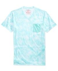 American Rag Men's Distress Pocket T Shirt Only At Macy's Blue Turquoise