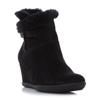 Geox Amelia Stival Wedge Ankle Boots Black